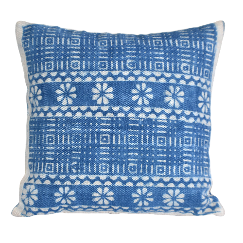 Block Print Heavy Cotton Dari Cushion Cover 65x65cm- IB65-9