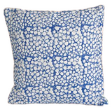 Indigo Cells Block Print Cotton Dari Cushion Cover 45cm