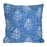 Indigo Booti Block Print Cotton Dari Cushion Cover 45cm