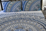 Bird of Prey Blue Mandala Throw