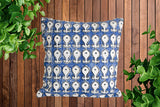 Indigo Block Print Cotton Dari Cushion Cover 45cm
