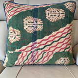 Indian Handmade Vintage Kantha Cotton Cushion Cover 50cm -123