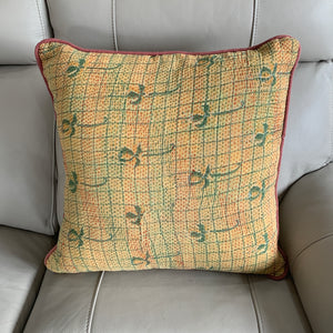 Indian Handmade Vintage Kantha Cotton Cushion Cover 50cm -111