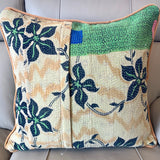 Indian Handmade Vintage Kantha Cotton Cushion Cover 50cm -117