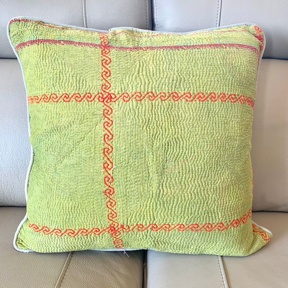 Vintage Kantha Cotton Cushion Cover 50cm -116