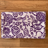 Handmade Reversible Indian Purple Tribal Print Kantha Quilt Bedspread