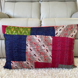 Silk Vintage Kantha Patchwork Pillow Cover 9