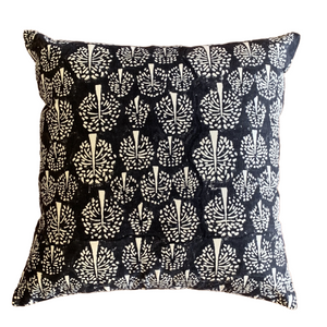 Black Tree of Life Cushion Cover