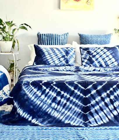 Diamond Hand Tie and Dyed Doona Cover Set