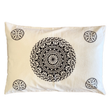 Black Mandala Pillow cover