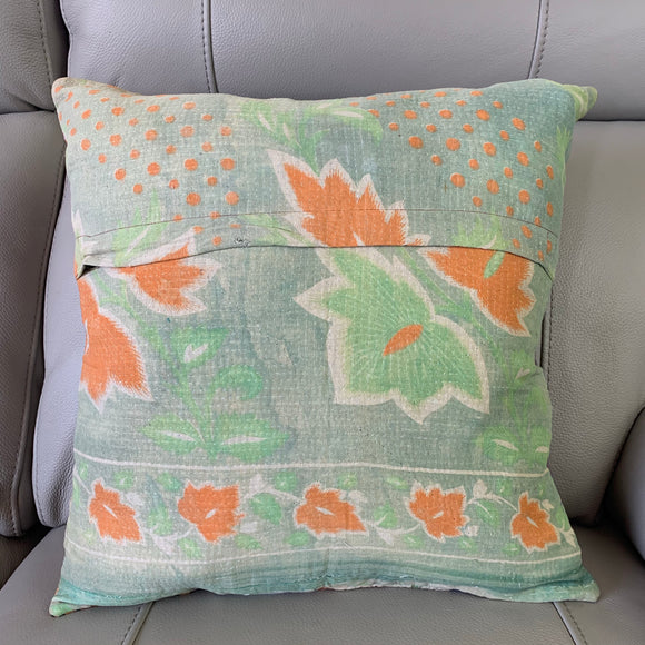 Vintage Kantha Patchwork Cushion Cover 7