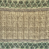 Olive Shiraz Block Print Cotton Dari Carpet