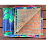 Indian Vintage Hand Made Kantha Quilt Throw Malini
