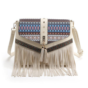 Charming Beautiful Bohemian Vintage Beige Carry Bag