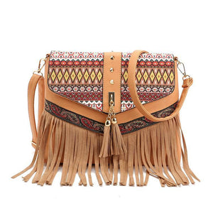 Charming Beautiful Bohemian Vintage Brown Carry Bag