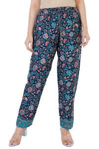 Nora Floral Printed Bohemian Vintage Trouser Pant
