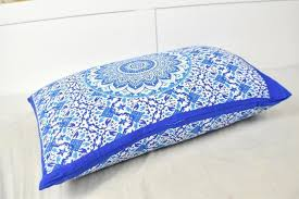 Yantra Blue Ombre Mandala Pillow Set
