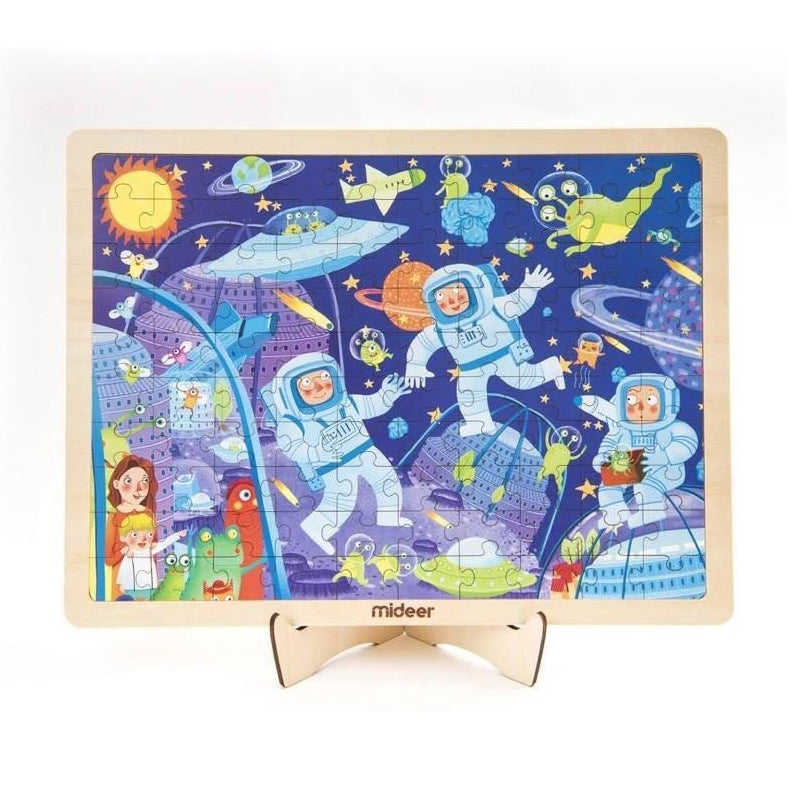 Wooden Puzzle 100pcs In Frame - LittleLeafBaby