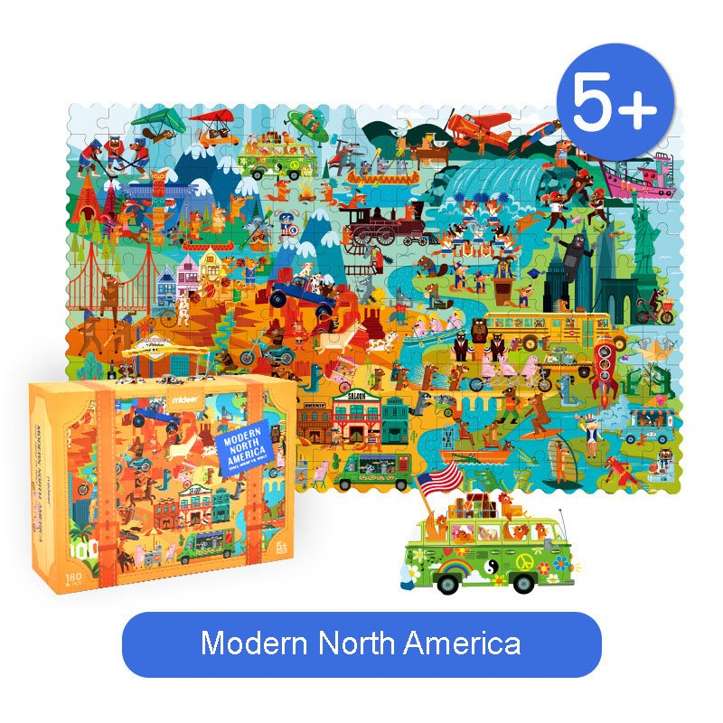 Mideer Travel Around World Puzzle