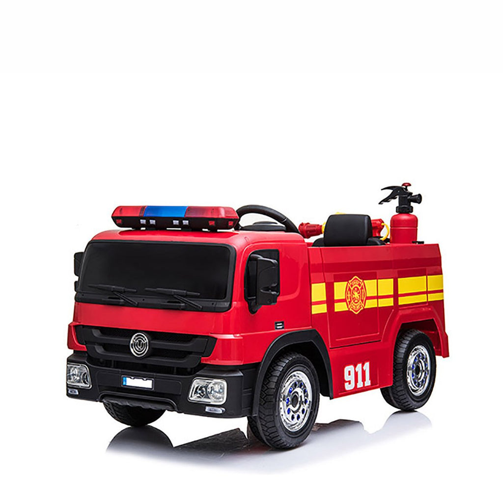 Fire Truck 12V Electric Motorized Ride-On Vehicle for Kids with Parental Remote Control -