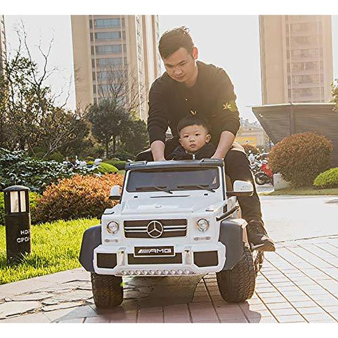 MERCEDES-BENZ AMG G63 6x6 12V Electric Motorized Ride-On Car for Kids with Parent Seat and Remote Control