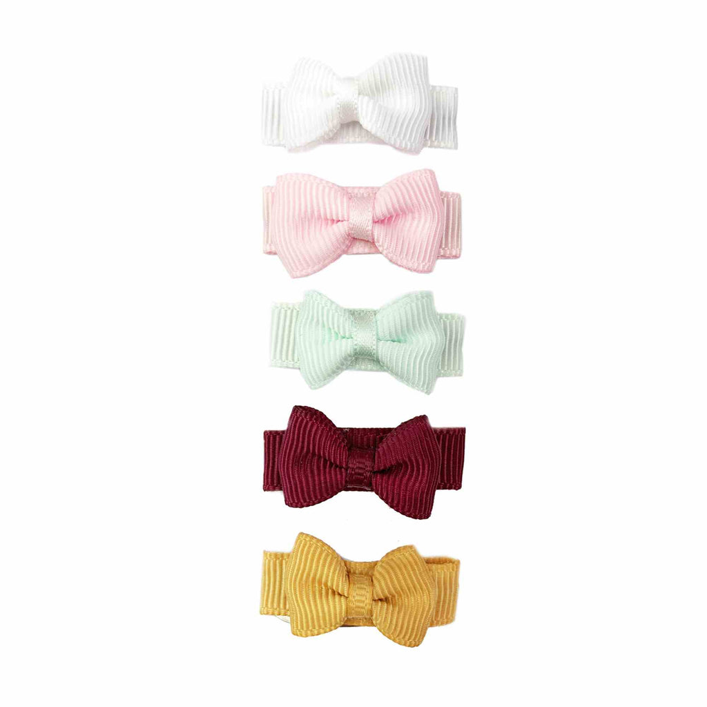 Small Snap Chic Bows 5 Pack - LittleLeafBaby