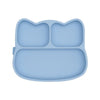 We Might Be Tiny - Cat Stickie Plate - Powder Blue - LittleLeafBaby