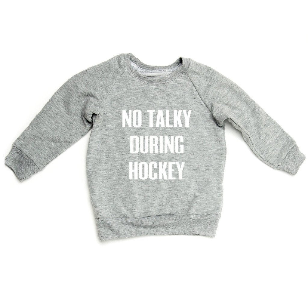 THE NO TALKY DURING HOCKEY RAGLAN - LittleLeafBaby