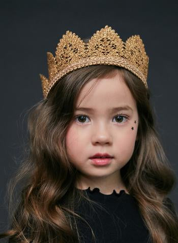 Hard Large Lace Crown - LittleLeafBaby