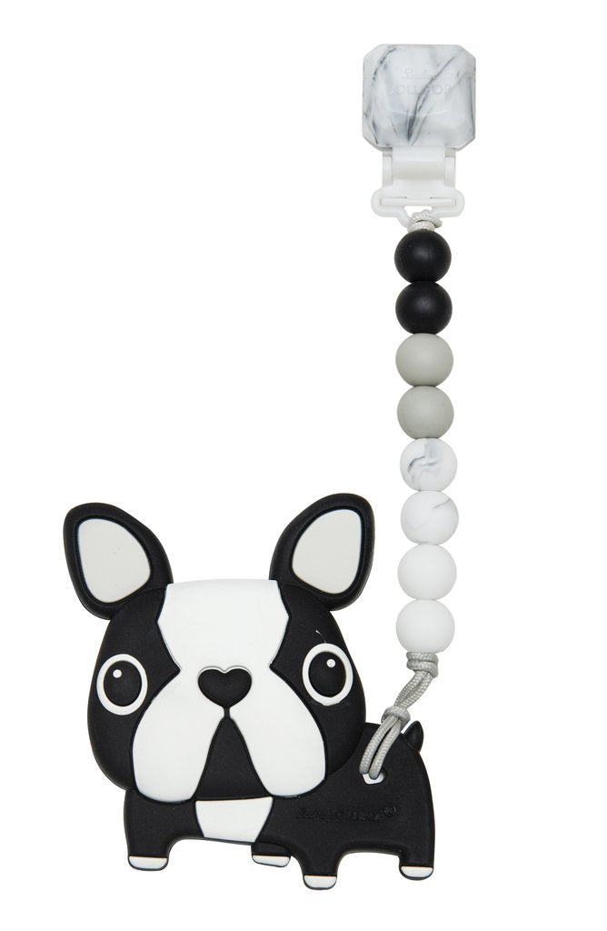 Black Boston Terrier Teether Set Gem