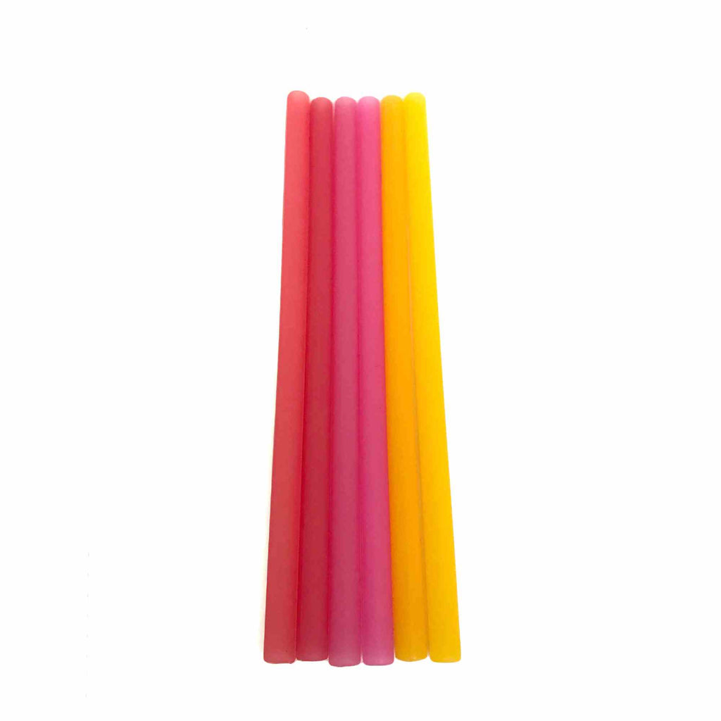 Reusable Silicone Straws 6pk