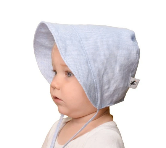 INFANT SUN PROTECTION BONNET White - LittleLeafBaby