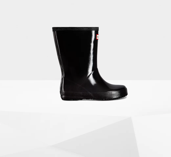 Original Kids First Classic Gloss Rain Boots: Black