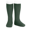 Condor - rib knee socks - Amazonia dark green - 753