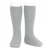 CONDOR - KNEE HIGH RIBBED SOCKS - ALUMINIUM #221