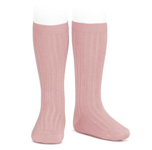 CONDOR – Ribbed Knee High Socks – 526 Rosa Palo