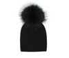Olilia hats angora single pom black