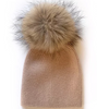 Angora Single Pom Hat - chestnut 2-4Y - LittleLeafBaby
