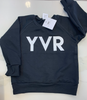 Posh Cozy YVR crewneck City code - LittleLeafBaby