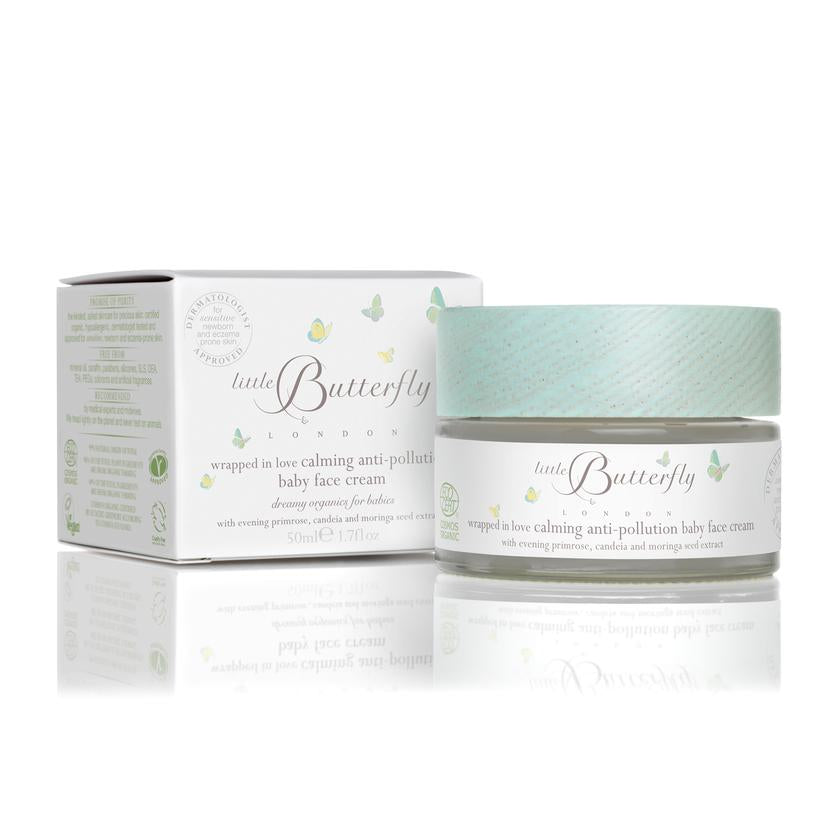 Little Butterfly wrapped in love calming anti-pollution baby face cream 50ml - LittleLeafBaby