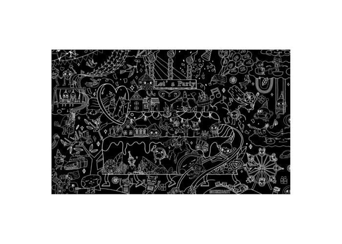 Mikiki Reusable Giant Coloring Poster