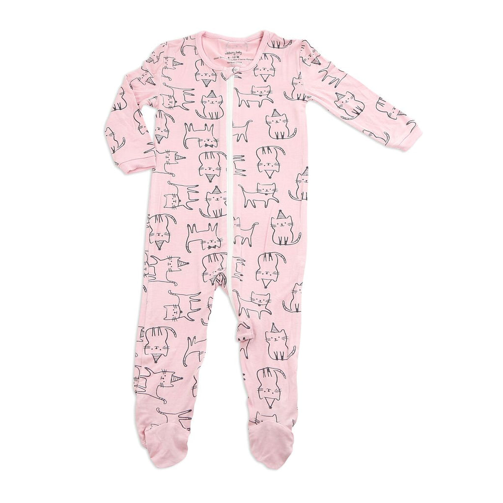 Bamboo Printed Footies with Easy Zipper - LittleLeafBaby