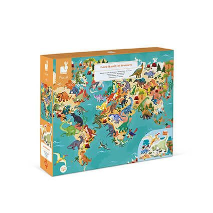 Janod 200 pc 3D Educational Puzzle The Dinosaurs - LittleLeafBaby