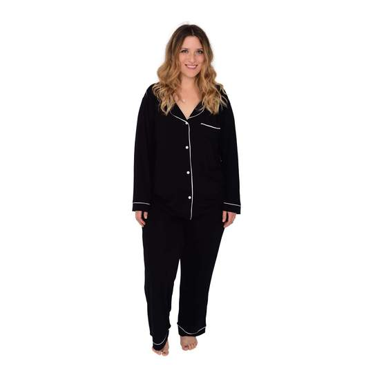 WOMEN'S PAJAMA SET IN MIDNIGHT WITH CLOUD TRIM