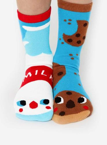Buckets of Fun PALS Milk and Cookies socks