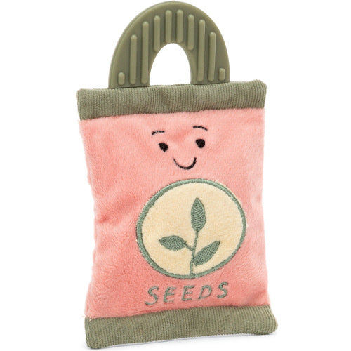 coming soon whimsy garden seed pocket rattle