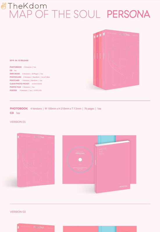 bts map of the soulpersona album free folded poster cds kdom 1 135