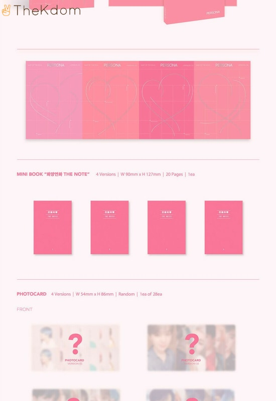 bts map of the soulpersona album free folded poster cds kdom 3 336