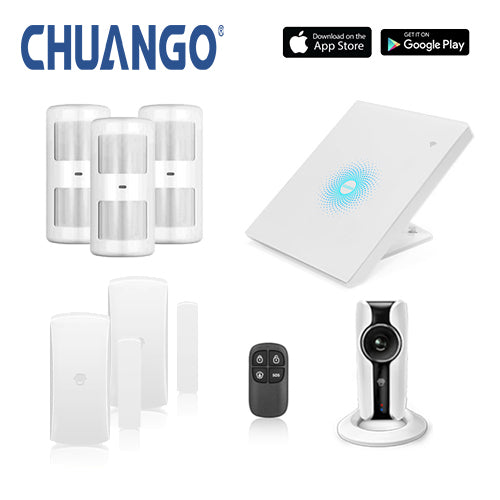 Chuango AWV Plus 'Premium' WiFi Home Security Alarm + IP Camera