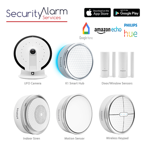 Smanos K1 Wireless Smart Home DIY Security Alarm Kit & UFO Camera